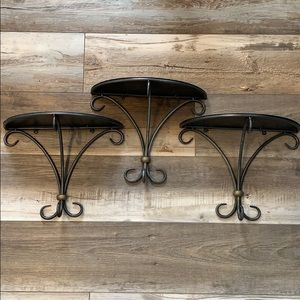 Other - Metal Brushed Iron Shelves
